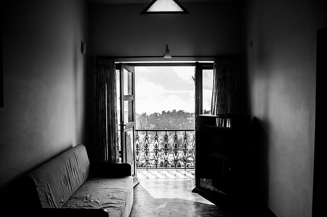 dveře na terasu