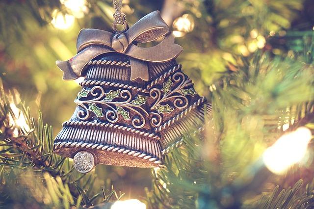 kovová ozdoba vánoční zvonky